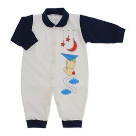Imagem - Macacão de Bebê Menino Lapuko - 9054-macacao-lapuko-branco-marinho