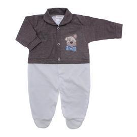 Imagem - Macacão de Bebê Menino Lapuko - 10079-macacao-estamp-mno-marrom-mes