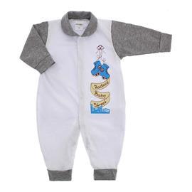 Imagem - Macacão de Bebê Menino Lapuko - 9054-macacao-longo-mescla-medio-est