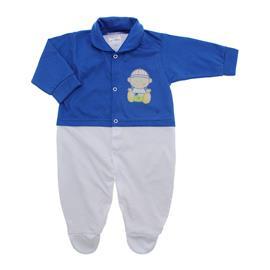 Imagem - Macacão de Bebê Menino Lapuko - 10079-macacao-estamp-mno-azul-royal