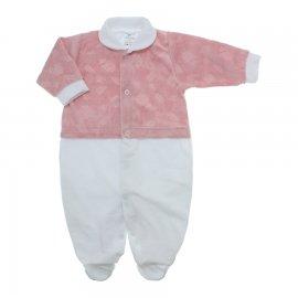 Imagem - Macacão de Plush para Menina Lapuko - 10113-macacão-plush-rosa-pastel