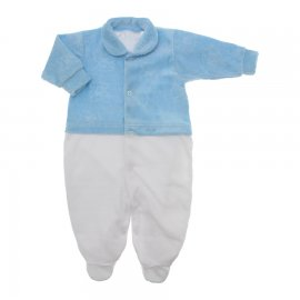Imagem - Macacão de Plush para Menino Lapuko - 10113-macacao-plush-ursinho-azul
