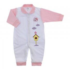 Imagem - Macacão em Malha para Menina Lapuko - 10117-macacão-menina-bco-rosa-bebe