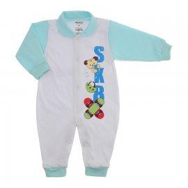 Imagem - Macacão em Malha para Menino Lapuko - 10118-macacão-menino-azul-bebe