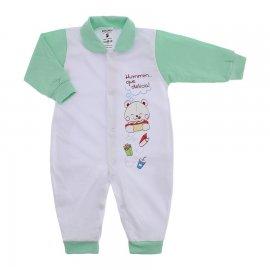 Imagem - Macacão em Malha para Menino Lapuko - 10118-macacão-menino-bco-verde-bebe