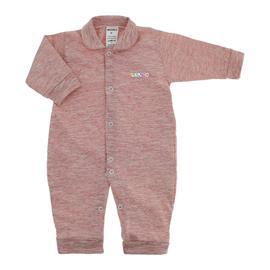 Imagem - Macacão Longo de Malha para Bebê  - 10017-macacao-listrado-lapuko-verme