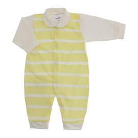 Imagem - Macacão Longo Listrado Lapuko - 10025-macacao-listrado-amarelo-bebe