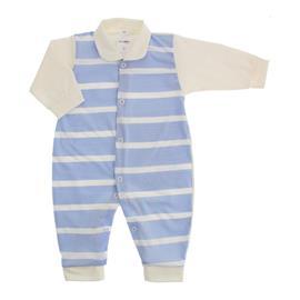 Imagem - Macacão Longo Listrado Lapuko - 10025-macacão-listrado-azul-bebe