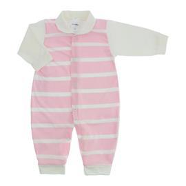 Imagem - Macacão Longo Listrado Lapuko - 10025-macacão-listrado-rosa-bebe