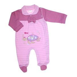 Macacão Listrado de Bebê Leão Melão 6574