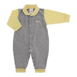 Imagem - Macacão para Bebê de Malha - 10034-macacao-longo-mescla-amarelo