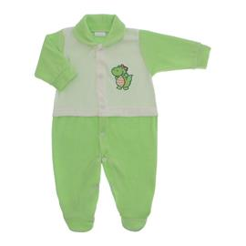Imagem - Macacão para Bebê de Plush Estampado Lapuko Menino - 10056-mac-plush-verdinho-menino