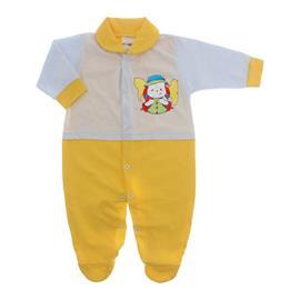 Imagem - Macacão para Bebê Lapuko - 10073-mac-lapuko-bco-amarelo