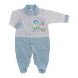 Imagem - Macacão para Bebê Lapuko - 10073-mac-lapuko-bco-azul-bebe