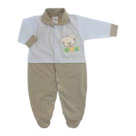 Imagem - Macacão para Bebê Lapuko - 10073-mac-lapuko-bco-bege