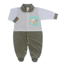 Imagem - Macacão para Bebê Lapuko - 10073-mac-lapuko-bco-caqui