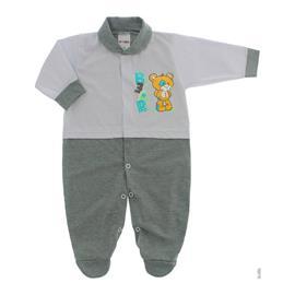 Imagem - Macacão para Bebê Lapuko - 10073-mac-lapuko-bco-cinza-mescla