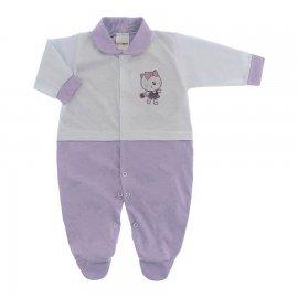 Imagem - Macacão para Bebê Lapuko - 10073-mac-lapuko-bco-lilas