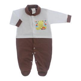 Imagem - Macacão para Bebê Lapuko - 10073-mac-lapuko-bco-Marrom