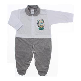 Imagem - Macacão para Bebê Lapuko - 10073-macacão-lapuko-branco-mescla