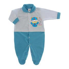 Imagem - Macacão para Bebê Lapuko - 10073-ma-lapuko-bco-turquesa