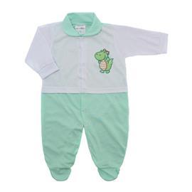 Imagem - Macacão para Bebê Lapuko - 10073-macacao-lapuko-branco-verde-b