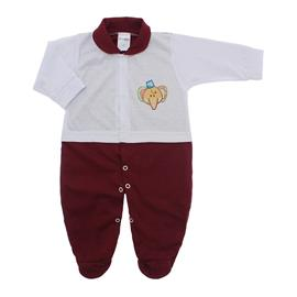 Imagem - Macacão para Bebê Lapuko - 10073-macacao-lapuko-branco-vinho