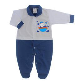 Imagem - Macacão para Bebê Lapuko - 10073-mac-lapuko-bco-marinho