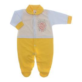 Imagem - Macacão para Bebê Lapuko - 10073-mac-lapuko-mna-bco-amarelo
