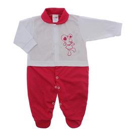Imagem - Macacão para Bebê Lapuko - 10073-macacao-menina-branco-azaleia