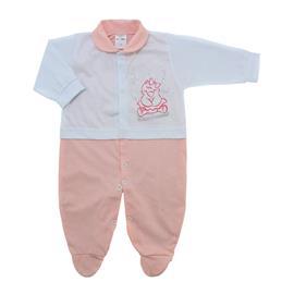 Imagem - Macacão para Bebê Lapuko - 10073-macacao-menina-branco-pessego