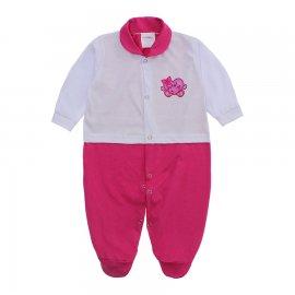 Imagem - Macacão para Bebê Lapuko - 10073-macacao-lapuko-menina-bco-pin