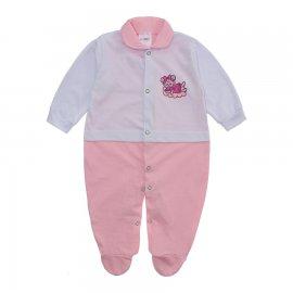 Imagem - Macacão para Bebê Lapuko - 10073-macacão-lapuko-menina-bco-ros
