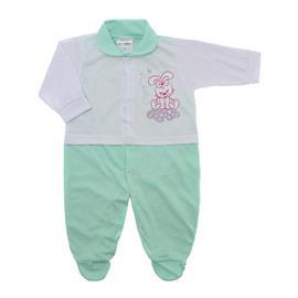 Imagem - Macacão para Bebê Lapuko - 10073-macacao-menina-branco-verde-b