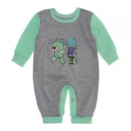 Imagem - Macacão para Bebê Menino Lapuko - 10262-macacao-menino-mescla-verde-b