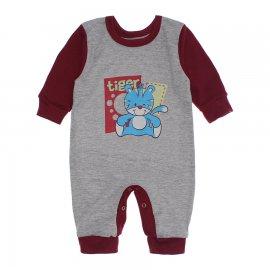Imagem - Macacão para Bebê Menino Lapuko - 10262-macacao-menino-mescla-vinho