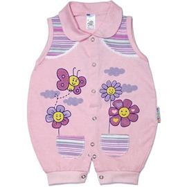 Macacão Regata para Bebê Flores