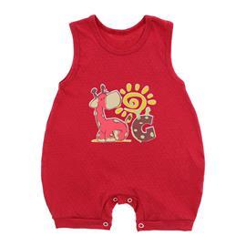 Imagem - Macacão Regata de Malha Lapuko - 8699-banho-sol-vermelho-girafa