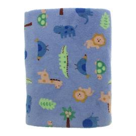 Imagem - Manta Bebê em Microfibra Fleece Lapuko - 9738-manta-fleece-lapuko-zoo-azul