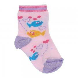 Imagem - Meias de Bebê - 10083-meia-peixinhos-rosa