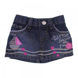Mini Saia Jeans para Bebê Din Don