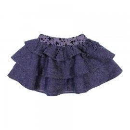 Imagem - Mini Saia Infantil Bonnemini - 6751-saia-jeans-infantil-estrelas
