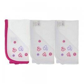 Imagem - Fralda de Boca para Bebê - Veste Anjos 5884 - 5884 - Borboleta Pink