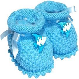 Pantufa de Bebê em Lã artesanal
