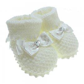 Imagem - Pantufa de Bebê Botinha de Lã  - 3305-pantufa-botinha-menina-bra