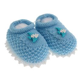 Imagem - Pantufa de Bebê Sapatinho de Lã - 3681-pantufa-sapatinho-la-azul