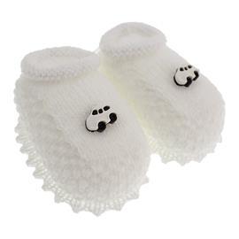 Pantufa de Bebê Sapatinho de Lã