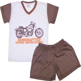 Imagem - Pijama Infantil de Verão Moto - 5856-marrom