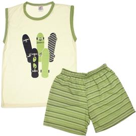 Imagem - Pijama Infantil Skateboards - 5849 - Creme