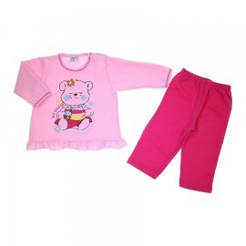 Imagem - Pijama de Bebe - Calça e Blusa - My Colors 5951 - 5951 - Rosa /Pink